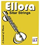 INDIVIDUALLY MARKED COMPLETE Ellora Indian Sitar String Set. 7 Main & 11 Sympathetic Strings, in Steel & Bronze