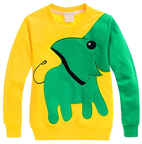 WmcyWell Little Boys' Cute Elegant Print Crew Neck Long Sleeve T-Shirt Tops