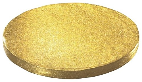 Oasis Supply Round Cake Drum, 18-Inch, Gold Foil