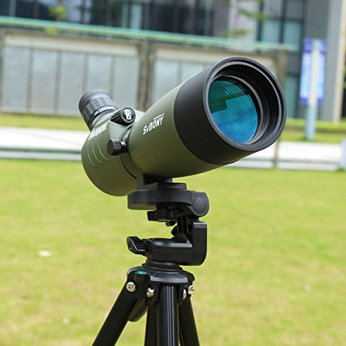 514V7gab8NL - SVBONY 20-60x60/25-75x70mm Shooting Spotting Scope Bak4 Prism Spotting Scope Telescope IP65 Waterproof FMC Optical Lens with Tripod and Phone Adapter