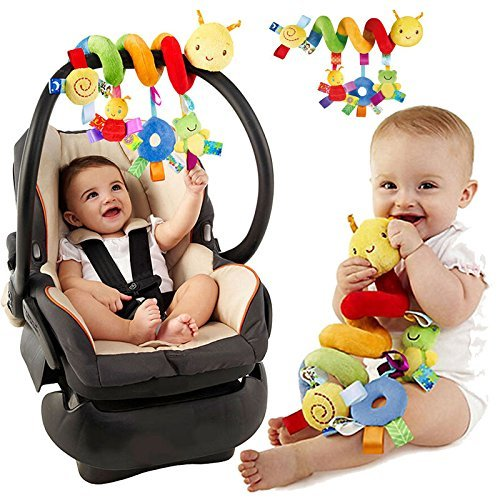 Pixnor Baby Spiral Activity Hanging Toys Stroller Cart Seat Pram Toy With Ringing Bell