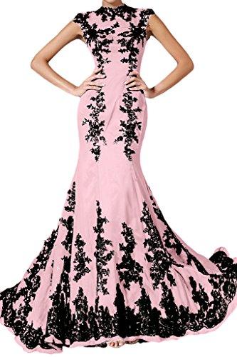 Applikation Elegant Lang Festkleid Ivydressing Mermaid Damen Chiffon Spitze Abendkleid Rosa 7O1xwfq