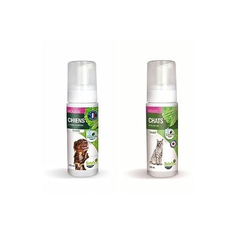 naturlys Octave – Producto natural – Champú (espuma sin aclarado para perros y gatos –