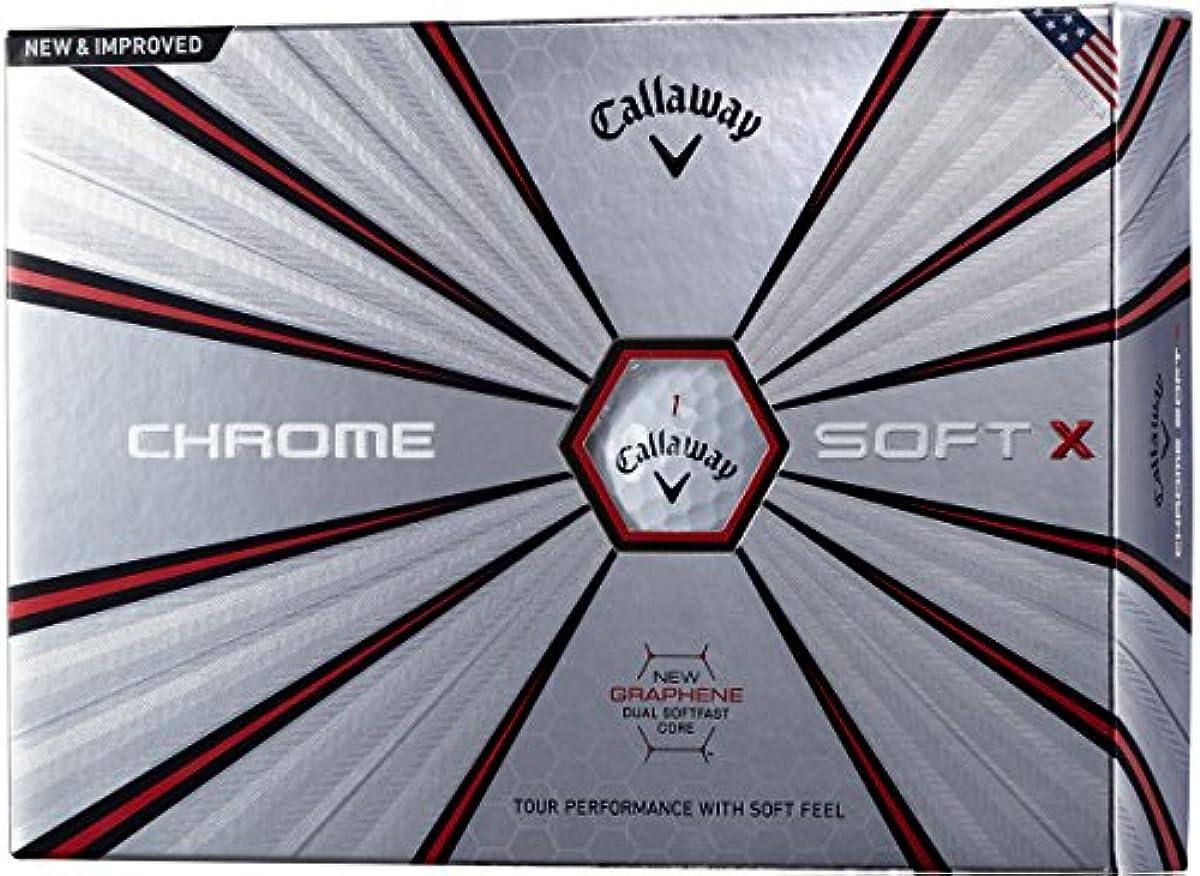 [해외] CALLAWAY(캘러웨이) 골프 볼 CHROME SOFT X 2018년 모델 1다스(12개 들이)