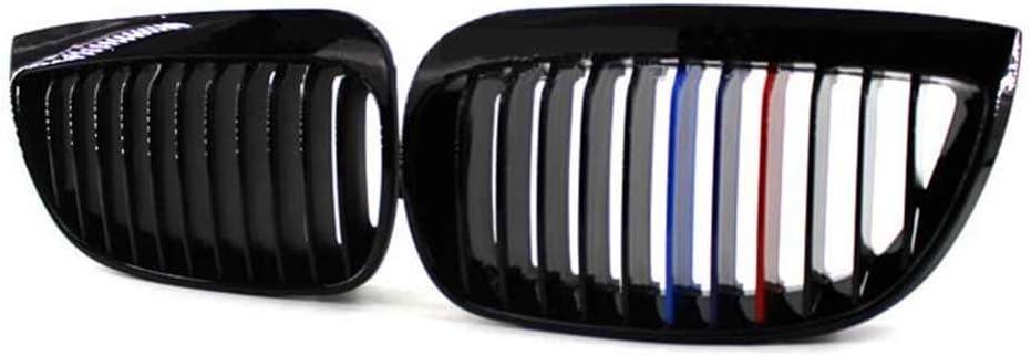 Guangcailun Avant de Voiture M-Couleur du Rein Gloss Noir pour Grillages E81 E87 04-07 120d 120i 130i