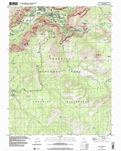 Half Dome CA topo map, 1:24000 scale, 7.5 X 7.5 Minute, Historical, 1997, updated 2002, 26.8 x 21.5 IN - - Sentinel Dome