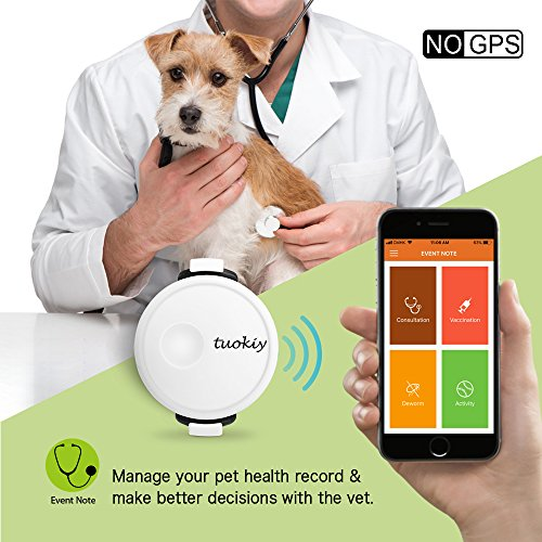 Tuokiy Pet Tracker - Thin and Lightweight Pet Activity Monitor for Dogs & Cats - Mood Detection(NO GPS)