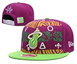 Miami Basketball Cap Men & Women's Heat Team Snapback Classic Adjustable Hat One Size