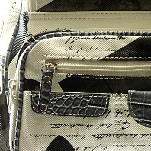 porté Sac main mono papillons de Sac casual et HD125 Peau à croco femme Bretelles dos main Sac à bohème Angkorly Noir écriture classiques 0fdM80qK
