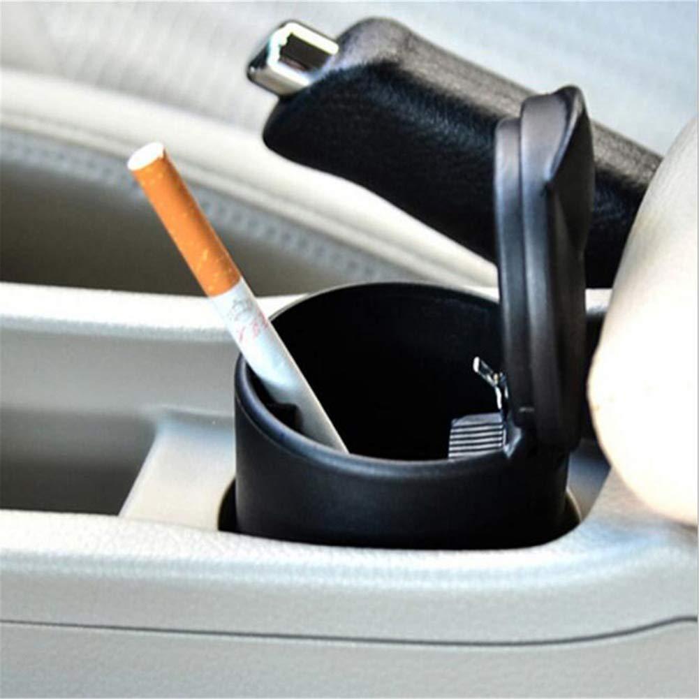 YMXLJJ Car Ashtray Portable Travel Ashtray Cigarette Holder Matte Surface High Temperature with LED Light Ashtray Anti-Skid Anti-Vibration Easy to Clean by YMXLJJ (Image #2)