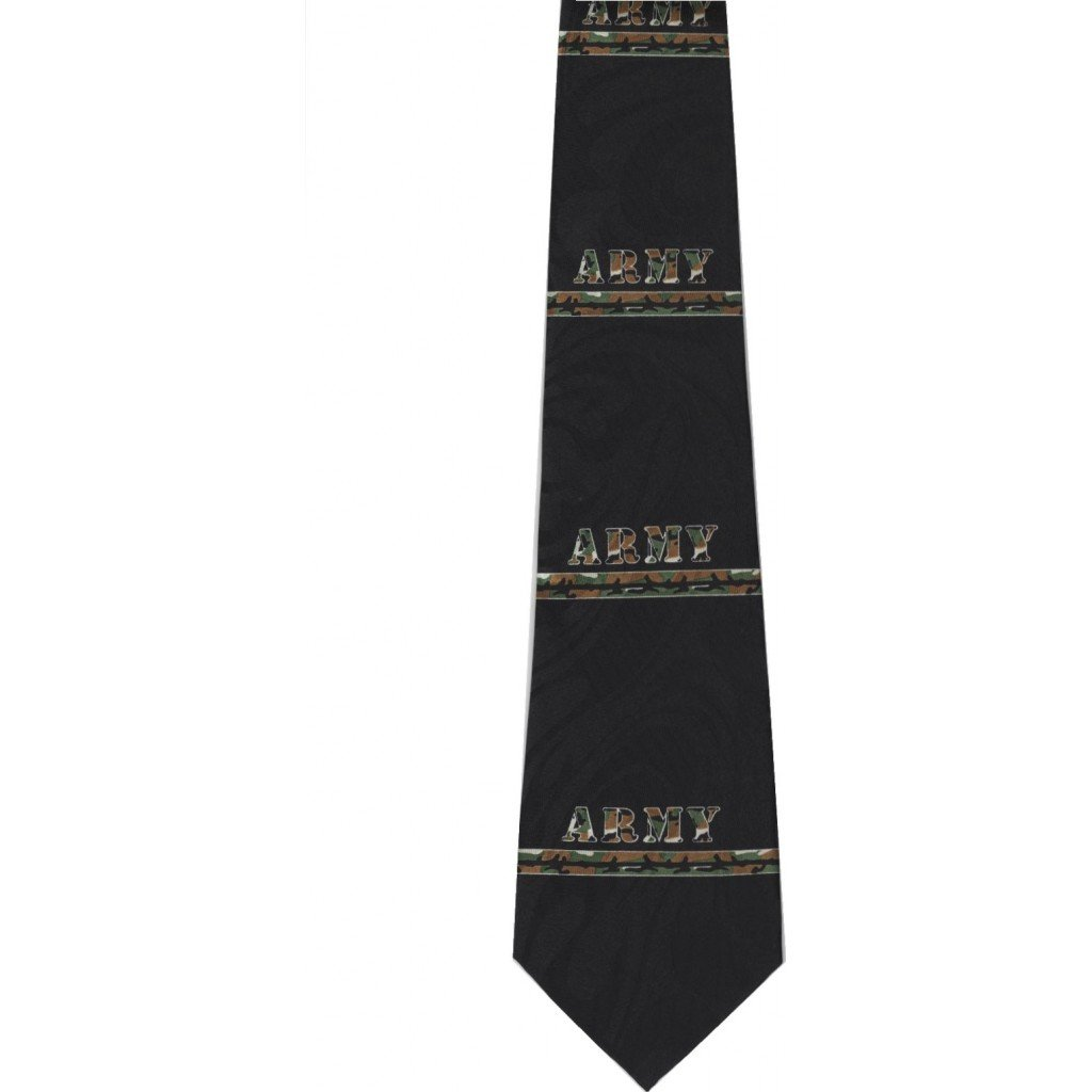 CTC Gifts Men's Army Neck Tie Military - Black by CTC Gifts (Image #1)