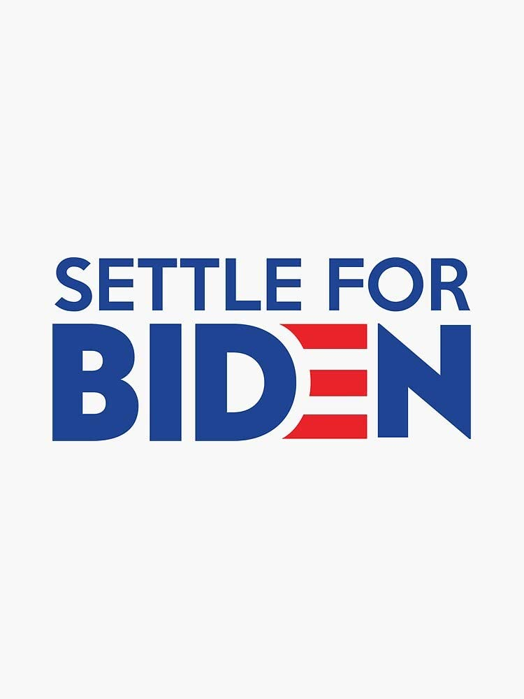 Joe Biden 2020 Vinyl Decal Bumper Sticker Wall Laptop Window Sticker 5 Settle For Biden
