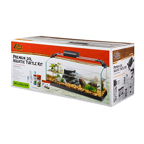 Zilla Premium Rimless Aquatic Turtle Habitat Kit, 20 Gallon - Turtle Eastern Painted