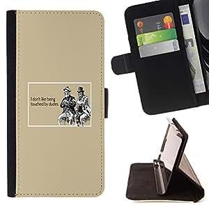 Momo Phone Case / Flip Funda de Cuero Case Cover - Gay Cita Tipo del divertido Touch Relaciones - Sony Xperia Z1 L39