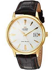 Orient Mens 2nd Gen. Bambino Ver. 1 Japanese Automatic Stainless Steel and Leather Dress Watch, Color:Brown...