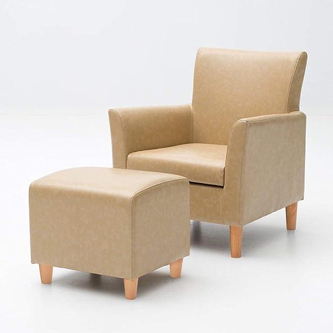 QQXX Sillones Modernos de cojín de PU sillón sillón con ...