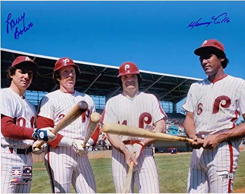 Larry Bowa and Manny Trillo Philadelphia Phillies Autographed 11