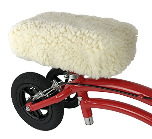 KneeRover Universal Knee Walker Knee Rest Pad Cover - Plush Synthetic Sheepskin Pad for Rolling Scooter by KneeRover (Image #4)