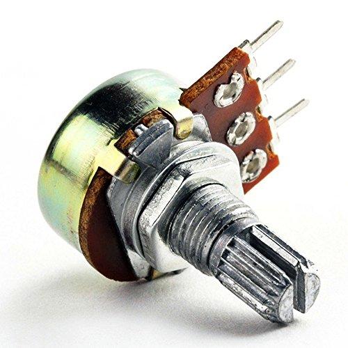 2 pcs of 50K OHM Logarithmic Taper Potentiometer Pot A50K 50KA