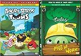 Piggy Tales 2 & Angry Birds Toons Season One Animated DVD Set 26 Cartoon + Bonus Episodes Minion Pig Set