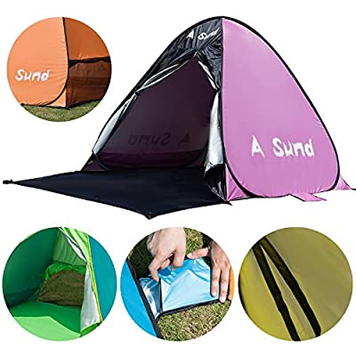 A Sund Beach Tent Automatic Pop Up Sun Shelter Lightweight Cabana Shade 2-3 Person UV Protection UPF50+ for Women Family Kids