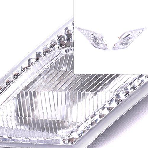 FRS FR-S BRZ GT86 13-17 JDM 3D Chrome Clear Side Marker Signal Lamp Bumper (Clear Corner Side Lights)