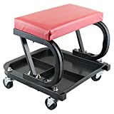 Ovovo Mechanic Stool with Wheels Tool Tray Roller Seat for Garage Auto Workshop Bench