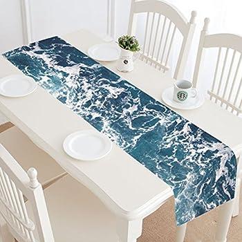 Marvelous InterestPrint Sea Ocean Wave Table Runner Home Decor 14 X 72 Inch, Nautical  Table Cloth