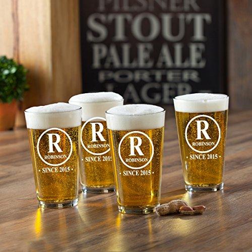 monogrammed beer glasses - 3