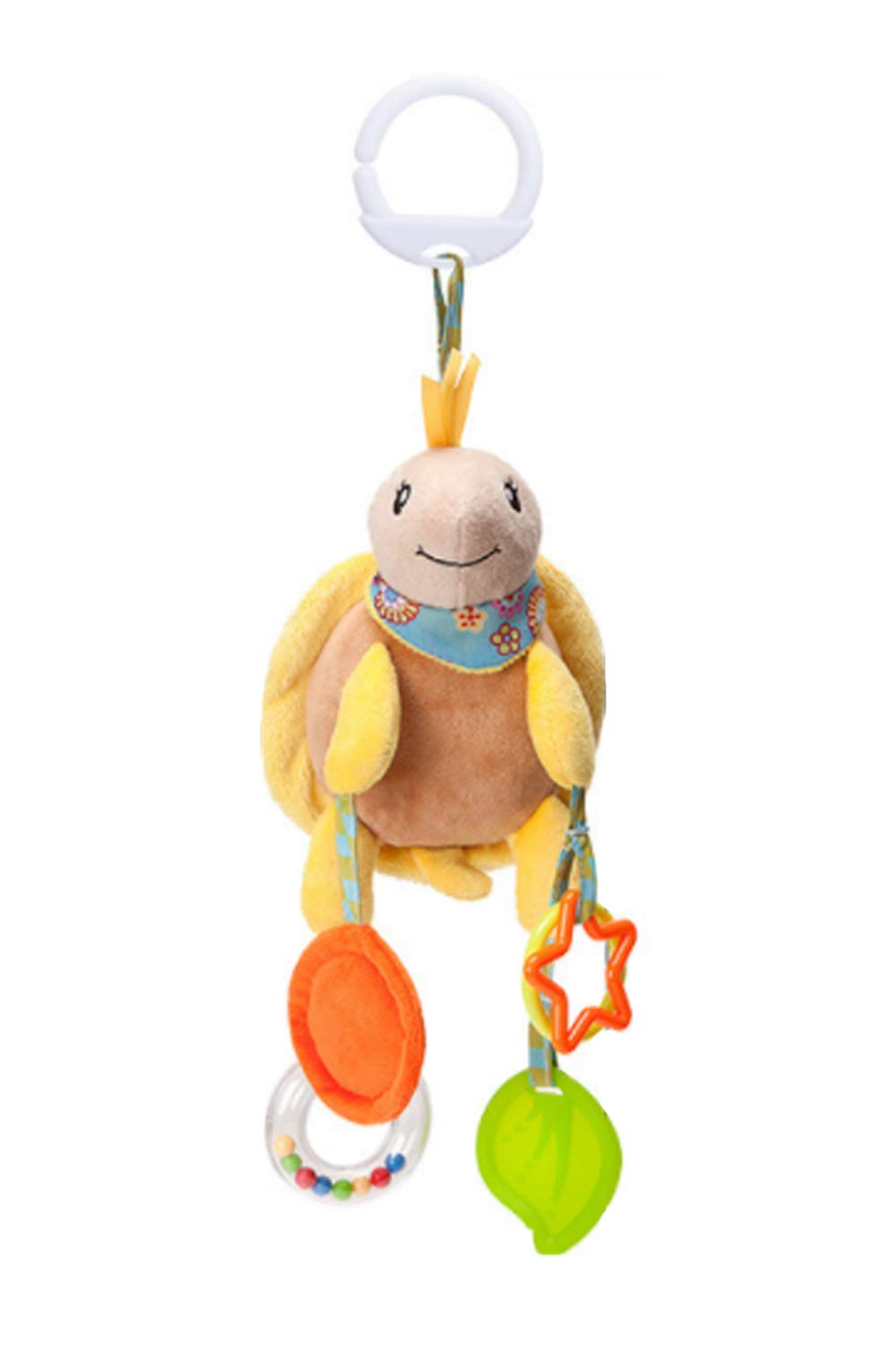 SMTD Kids Hanging Toy for Crib with Teethers and Rattle Ring Mirror for Self Discovery Safety Squeaker Stroller Hanging Toys Non-Toxic Material Bed Hanging Bells Owl