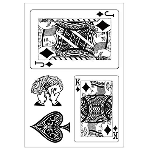 Poker King Jack Playing Cards Stamp Rubber Clear Stamp/Seal Scrapbook/Photo Album Decorative Card Making Clear Stamps (Poker King J)