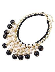 U7 Elegant & Vintage 18K Gold-plated Pearl Cluster Necklace