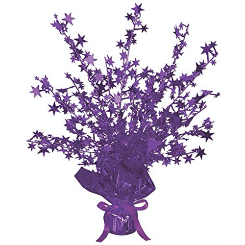 Beistle 50806-PL Star Gleam 'N Burst Centerpiece, 15-Inch