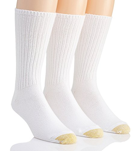 Gold Toe Men's Cotton Fluffies 633S,White,US 10-13 R