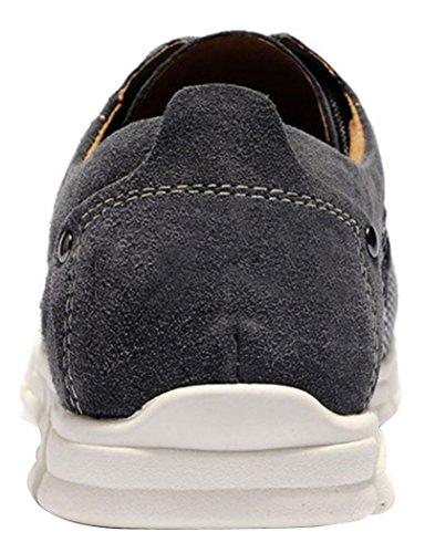 WUXING Men's Breathable Mesh Shoe (10 D(M)US,gray)