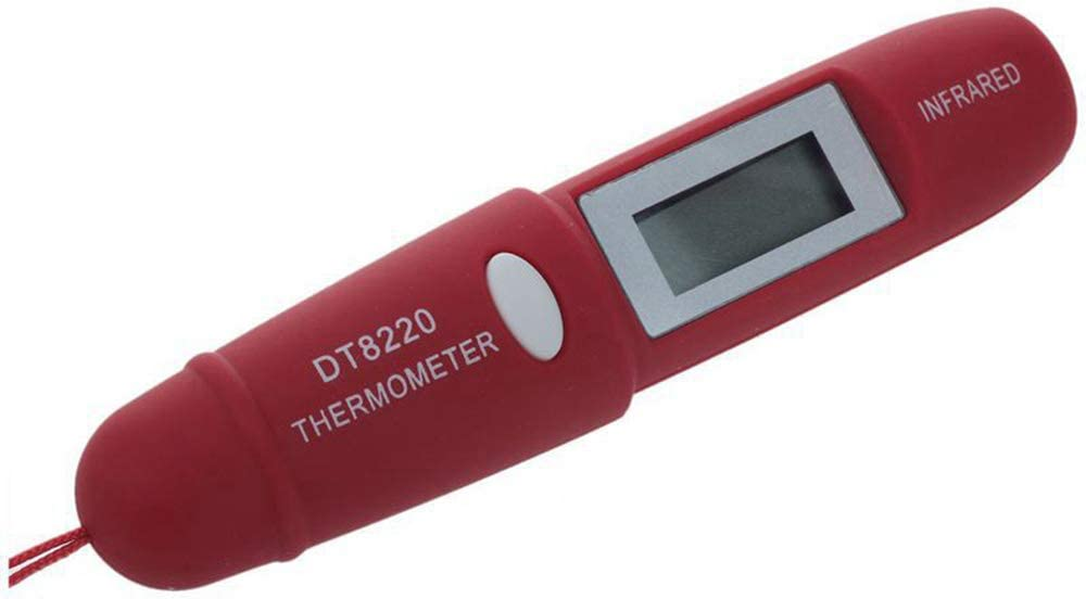 ber/ührungsloses elektronisches Infrarot-Thermometer Fernerkundungsstift-Typ -50~220 /° C mit Beleuchtung f/ür//Milch//Wein//Champagner QYY Digitales LCD-Infrarot-Temperaturmessger/ät