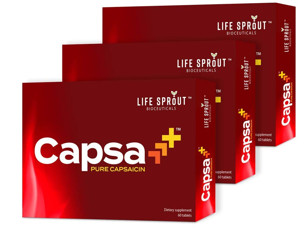 Capsa+ with Pure Capsaicin for Male Health to Increase Energy, Blood Flow, Endurance and Vitality - 30 Tablets Per Box