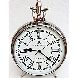 Nautical Style London Bond Street Chrome/ Silver Table Desk Clock Home Decor