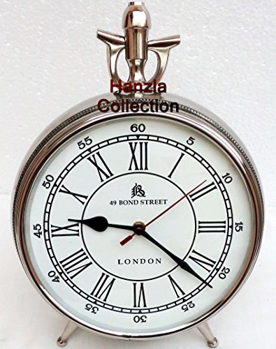 Nautical Style London Bond Street Chrome/ Silver Table Desk Clock Home Decor ()