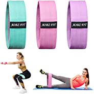 Fabric Resistance Bands Set 3 Pack, AOBZ FIT Exercise Booty Bands with 3 Resistance Levels, Non-Slip Resistanc