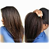 N.L.W. Italian Yaki Lace Front Human Hair Wigs for Black Women Brazilian Remy Hair Glueless Lace Wig with Baby Hair 16inches