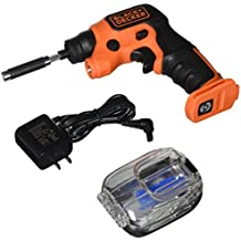 BLACK+DECKER BDCSFS30C 4V Max Lithium Ion Lightdriver Cordless Screwdriver with Storage Pak