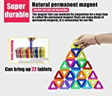 GLOUE 254 PCS Magnetic Building Blocks Magnets Toys 200-Piece Magnetic Stacking Tiles & 54 Letter Card w/Stickers Deluxe Building Set for Boys & Girls-254