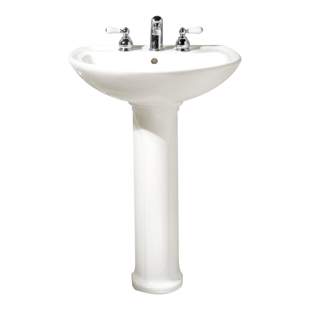 Bathroom sink leg in white american standard ravenna bathroom sinks - American Standard 0236 811 020 Cadet Pedestal Top And Leg With 8 Inch Center Holes White
