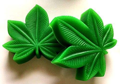 (Marijuana Soap - Marijuana - 420 - Mary Jane - Pot - Cannabis Flower Shaped Soap - You Choose Scent - FREE SHIPPING)