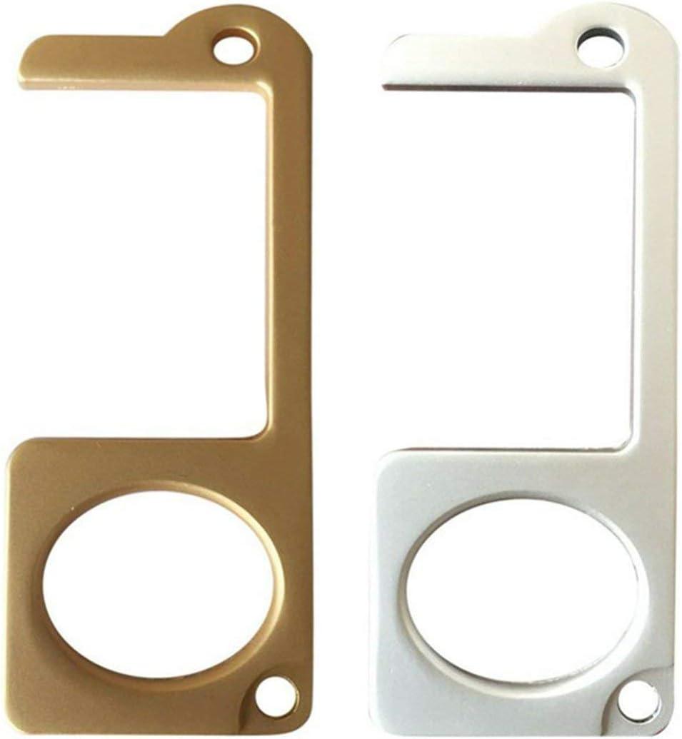 Plata Abridor de puerta anti-contacto Brassiness Aleaci/ón de zinc Evite la transmisi/ón secundaria Manija antibacteriana de la puerta