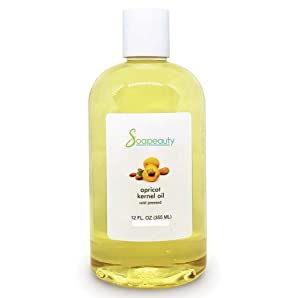 APRICOT KERNEL OIL Organic Cold Pressed Unrefined | 100% Pure Natural Apricot Oil for Skin, Face, Hair | Carrier for Essential Oils, Moisturizer, Massage | Sizes 4OZ to 1 GALLON | (12 OZ)