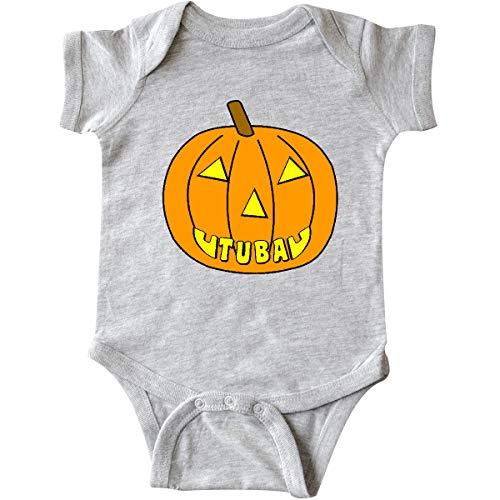 inktastic - Tuba Halloween Pumpkin Infant Creeper 12 Months Heather Grey 2d67a ()