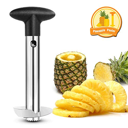 Nelipo Stainless Steel Pineapple Peeler, Pineapple Corer, Pineapple Slicer - All In One Kitchen Gadget]()