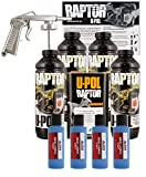 U-POL Raptor Safety Blue Urethane Spray-On Truck Bed Liner Kit w/ Free Spray Gun, 4 Liters
